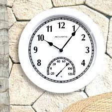 outdoor clock white with temperature indoor inch atomic wall la crosse technology 18 metal indoo