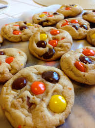 chocolate chip reese s pieces cookies