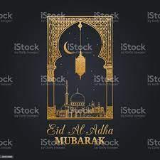 Eid Aladha Mubarak Kalligraphische Inschrift Übersetzt Ins Englische Als  Fest Der Sacrificehand Skizzierten Moschee Bogen Stock Vektor Art und mehr  Bilder von Eid al-Adha - iStock