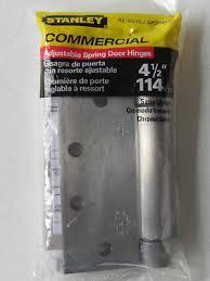 stanley 4 1 2 commercial adjule spring door hinge satin chrome