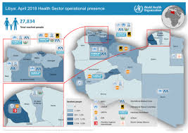 Presence Health Chart Libya Health Sector Operational Presence Map April 2018