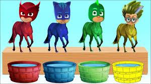 Bathing Colors Fun L Pj Masks Romeo Catboy Gekko Head Horse L