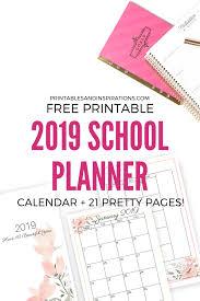 2020 2020 Weekly Planner Free Printable 2019 2020 Planner For School Updated