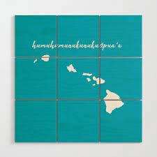 hawaii islands wood wall art by socoart
