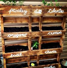 DIY herb planter made from pallets. DIY Pallet Projects. #pallets #DIY #