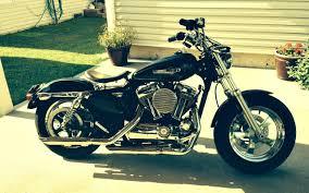 my ride a 2013 sportster 1200 custom in the garage harley