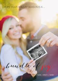 Personalised Christmas Pregnancy Announcement Cards Santa