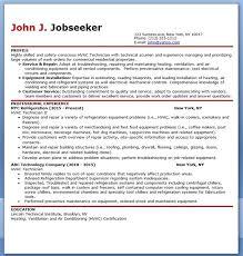 hvac technician resume sample hvac technician sample resume