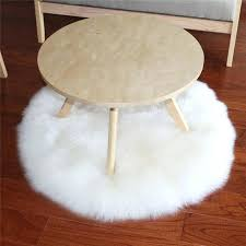 round sheepskin rug modern style home round soft artificial sheepskin rug mat chair cover artificial wool round sheepskin rug