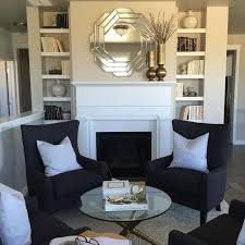 fireplace alcoves with built in shelves