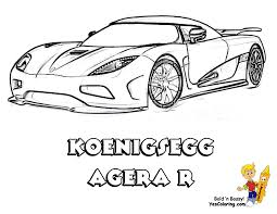 Small Picture Full Force Race Car Coloring Pages Free NASCAR Koenigsegg