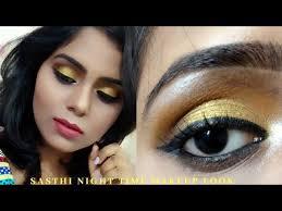 basic glam sasthi night time makeup