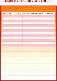 Weekly Work Schedule Template Excel Project Plan Safe System