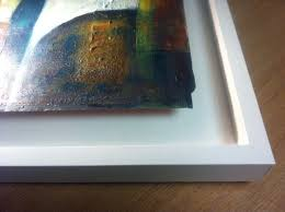 a float tray frame for a painting on board