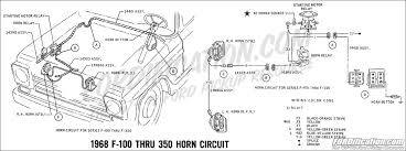 ford truck technical drawings and schematics section h wiring 1968 f 100 thru f 350 horn circuit