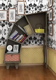 storage  organization innovative bookshelf ideas  top  diy