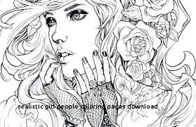 Girl Winter Coloring Pages Realistic People Download For Adults Lu