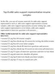 Sales Representative Resume Samples Simple Top 48 Att Sales Support Representative Resume Samples