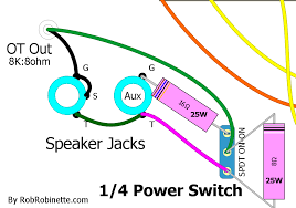 5e3 mods if your amp does not have an aux speaker jack just connect the 16 ohm resistor and switch wire to the speaker jack s tip and ground terminals