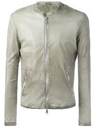 giorgio brato banded collar leather jacket ciment men clothing spring giorgio brato 100 top quality