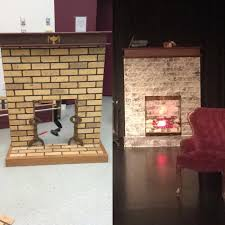 pygmalion november 2016 the photos above are the before and after shots of a fireplace prop that i re worked as part of my stage management duties for our