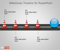Free Milestone Shapes Timeline For Powerpoint Free Powerpoint