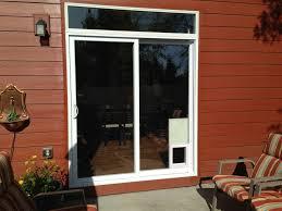 complete vinyl sliding patio door with electronic pet door exterior door with built in pet door