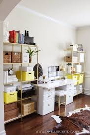 ikea office storage boxes. IKEA VITTSJO Hack Using Gold Spray Paint And Contact Paper That Looks Like Real Marble, Home Office With Pops Of Yellow - Dwellings By Devore Ikea Storage Boxes