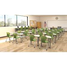 Apex Classroom Set 12 Desks 12 Chairs Marco Group Frame
