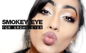 smokey eye makeup tutorial for brown eyes big and bright shreya masters you