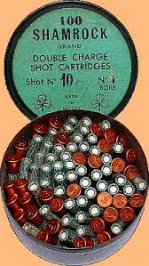 garden gun. Tin Of Shamrock No 1 Cartridges Garden Gun