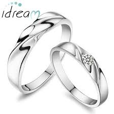 matching silver wedding bands. simple wave promise rings set for women and men, 925 sterling silver wedding ring band matching bands s