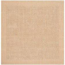 natural fiber ivory beige 6 ft x 6 ft square area rug