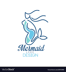 Design Mermaid Mermaid Logo Design Silhouette Of Mermaid For