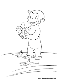 curious george coloring page pages happy birthday curious george coloring
