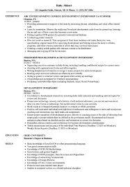 Development Internship Resume Samples Velvet Jobs