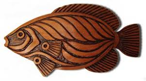 angel fish woodcarving on wood carved fish wall art with wall sculpture wildlife art contemporary art sculpture wall decor
