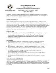 Professor Resume Examples Adjunct Professor Resume Example Examples of Resumes 21
