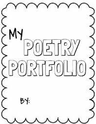 Cover Page For Portfolio Free Poetry Portfolio Cover Page