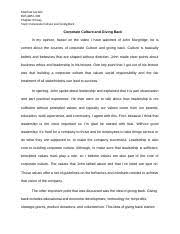 bus adm business and society wisconsin milwaukee page 2 pages corporate culture and giving back essay bus adm 200 docx