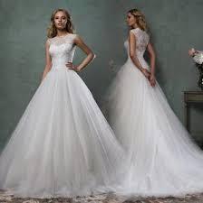 dresses for garden wedding. a-line wedding dress w/ sweep train dresses for garden