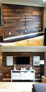 wood accent wall wooden pallet accent wall