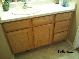 Painting bathroom vanity before and after Vanity Makeover Refurbishing Bathroom Cabinets Image And Shower Mandra The Family Handyman Refinishing Bathroom Cabinets Ideas Home Design Ideas