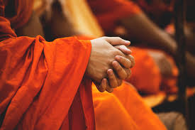 Free Images : hand, blur, gathering, people, flower, travel, red, color, autumn,  monk, buddhism, religion, yellow, pray, garment, close up, robe, ceremony,  temple, daylight, vivid, gown, monks, spirituality, clasp hands 5472x3648 -  -