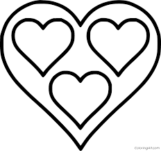 Just print out and have fun! Hearts Coloring Pages Coloringall