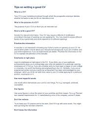 Tips To A Good Resume How Write A Good Resume Ideal Portrait Cv Sample Up Student