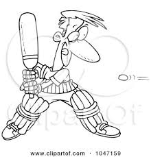 Small Picture Outline Picture Of Cricket Bat Coloring Coloring Pages