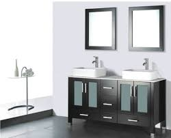 Dark Wood Bathroom Accessories Amazing Design Ideas Using Rectangular Black Wooden Vanity