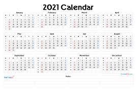Free printable 2021 yearly calendar with week numbers; 2021 Free Printable Yearly Calendar With Week Numbers 2021 Free Printable