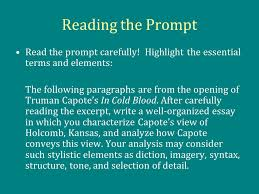the rhetorical analysis essay ppt  reading the prompt the prompt carefully highlight the essential terms and elements